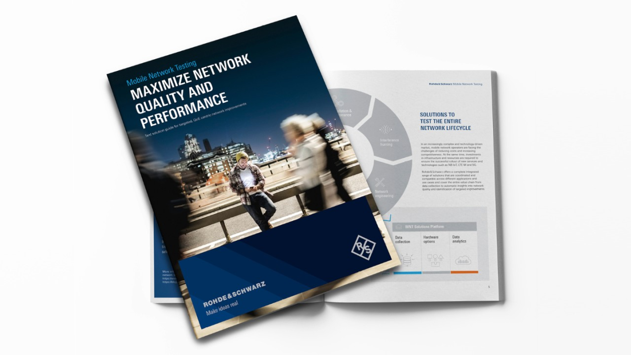 Maximize network quality & performance: Test solution guide for QoE centric network improvements