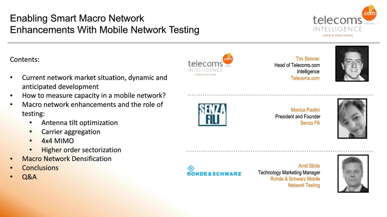 Macro network enhancements webinar