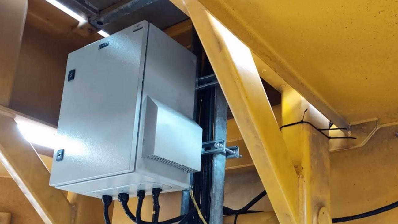Housing for the R&S®TSMA6 installed inside the AGV