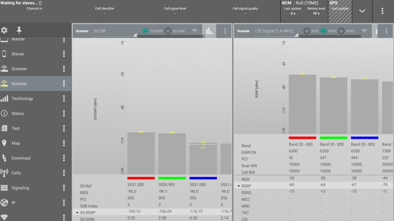 5G-site-testing-troubleshooting-signal-of-interest-sorted-by-highest-value-LTE