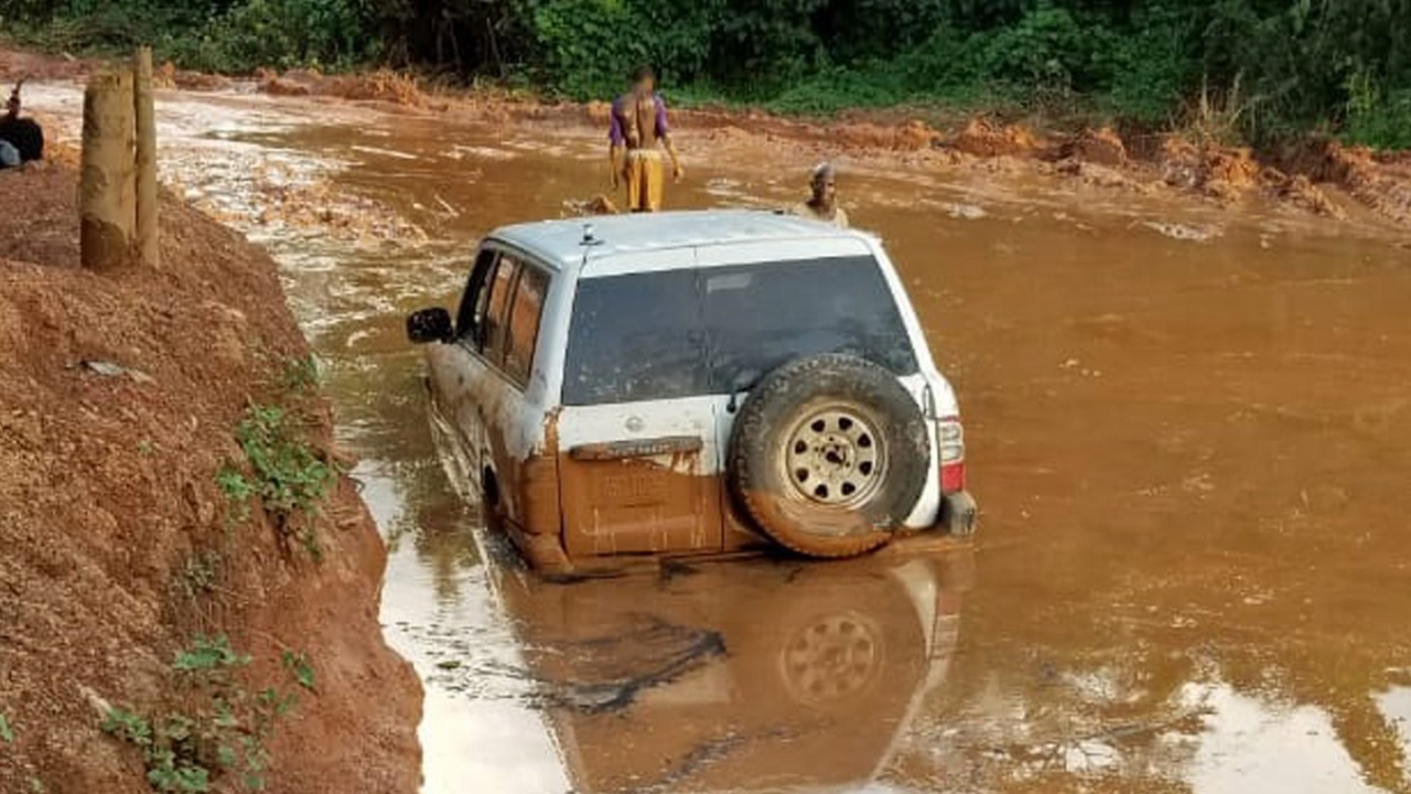 Ground team stuck in the mud