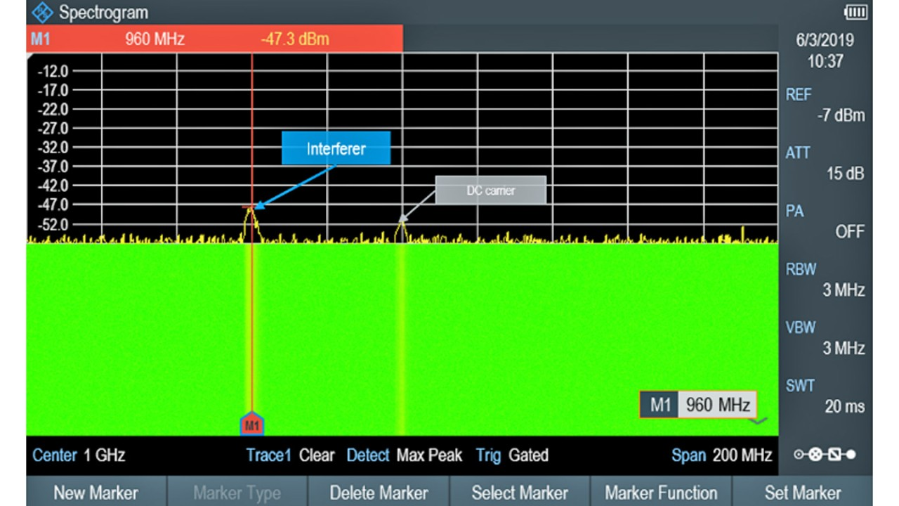 R&S®Spectrum Rider FPH screenshot