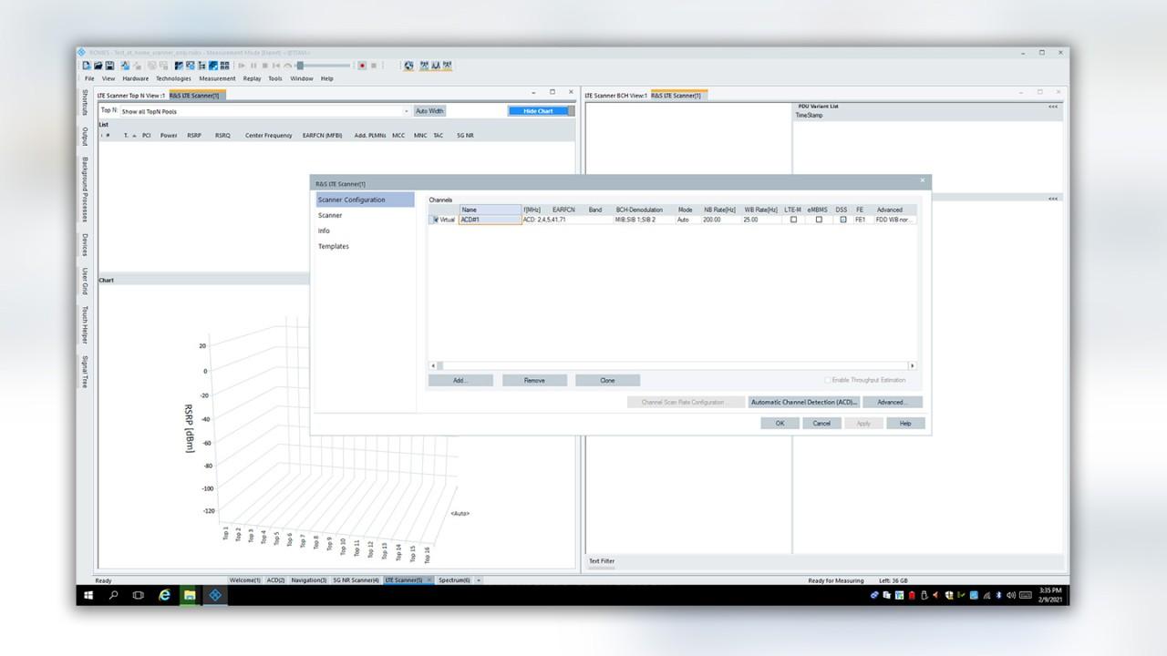 Figure 2: Automatic channel detection (ACD) configuration
