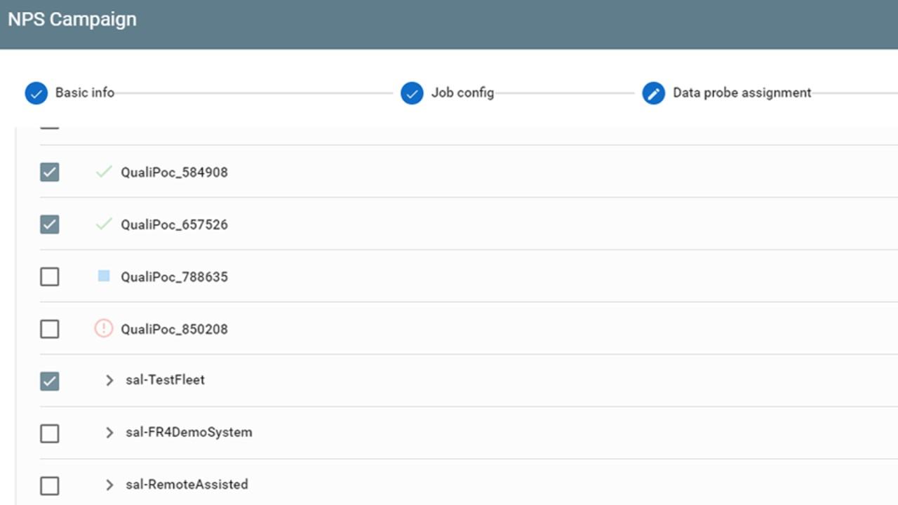NPS configurator assign probes
