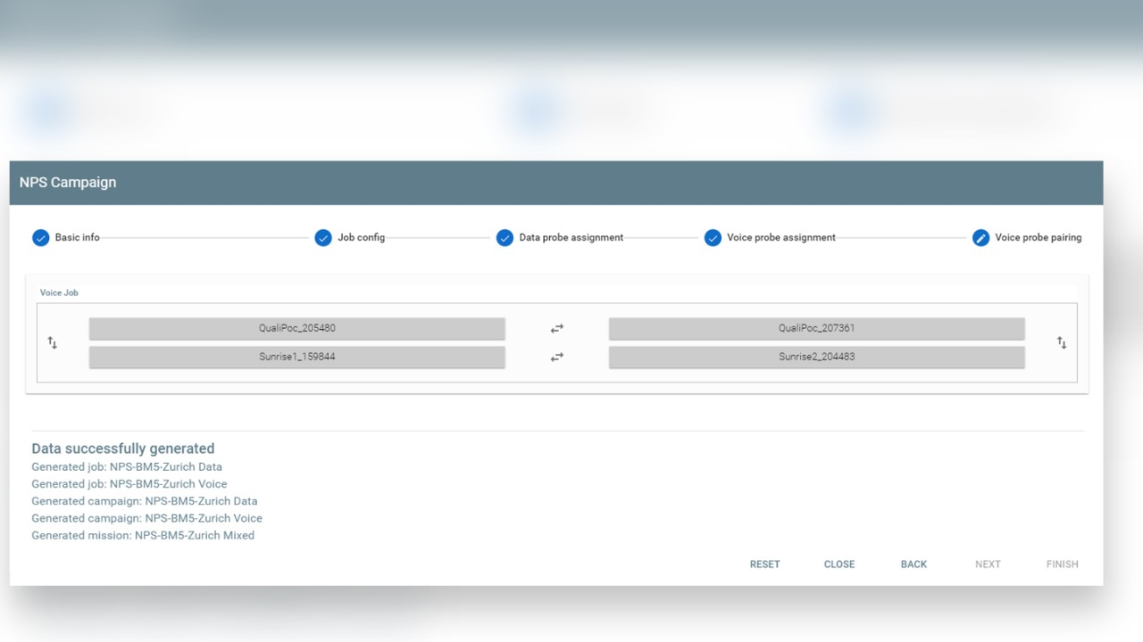 NPS Configurator final step define and modify voice probe pairing