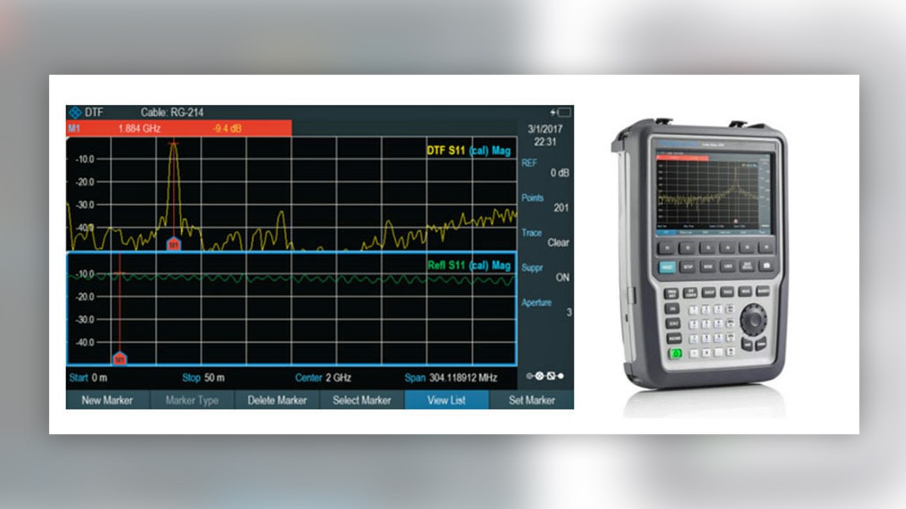 Distance-to-fault and return loss measurement on the Cable Rider ZPH cable and antenna analyzer