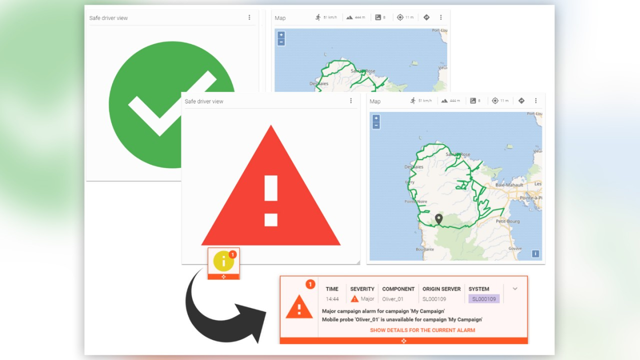 SmartBenchmarker safe driver view