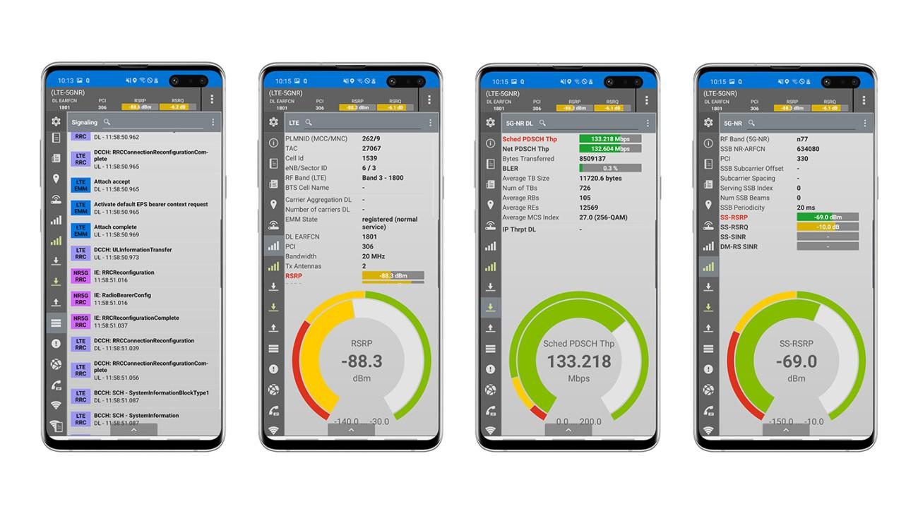 Rohde & Schwarz MNT network measurement solution based on Samsung Galaxy S10 5G