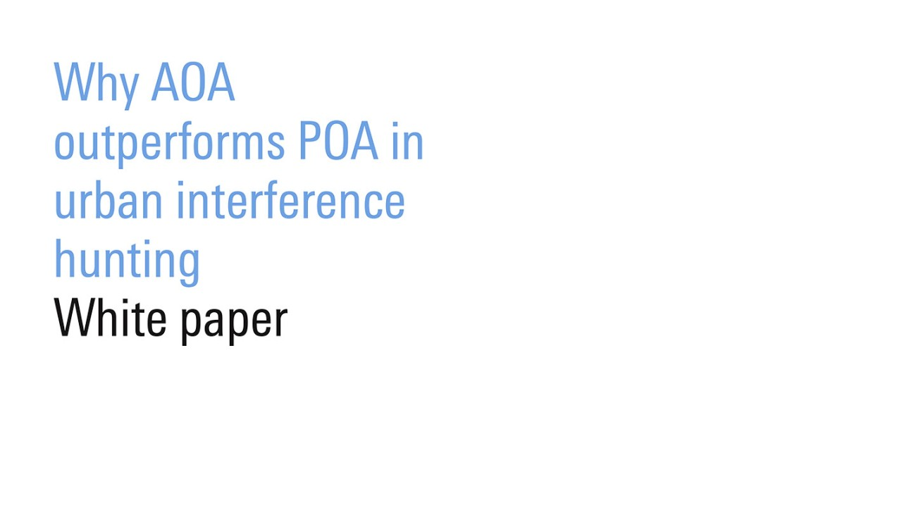 White paper: Why AOA outperforms POA in urban interference hunting