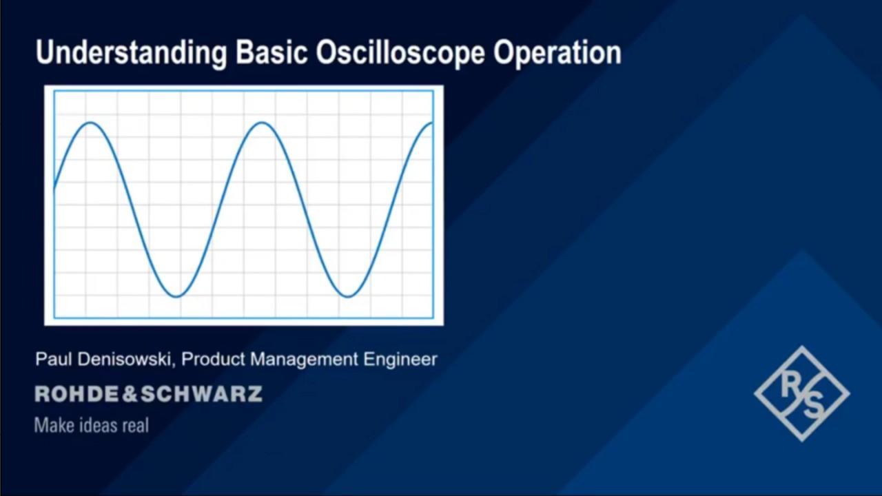 Understanding basic oscilloscope operation