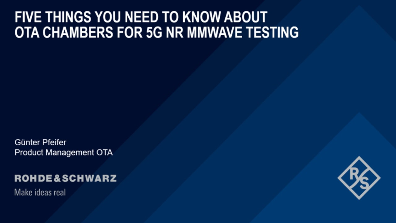 Webinar: Five things you need to know about OTA chambers for 5G NR mmW testing