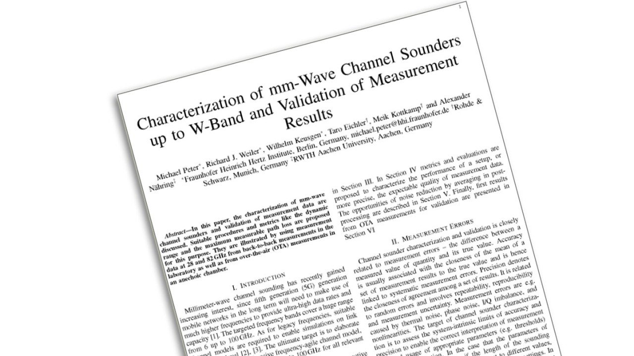 Characterization of mm-wave channel sounders
