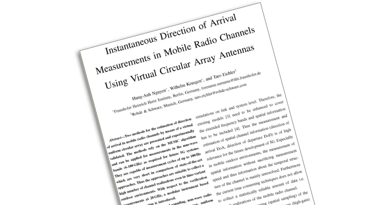 Instantaneous Direction of Arrival Measurements