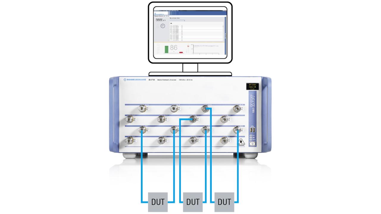 Mehrfach-Gerätetests mit einem echten Mehrtor-Netzwerkanalysator