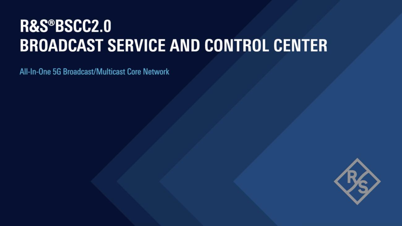 R&S®BSCC2.0 broadcast service & control center