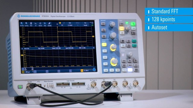 RTB2000 - Video FFT Frequency analysis mode