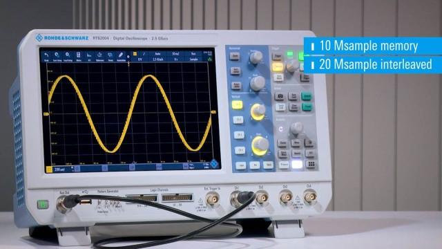 RTB2000 - 10 Msample memory