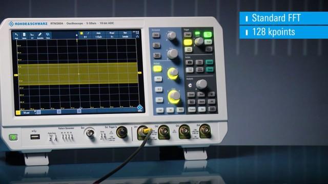RTM3000-RTA4000 Spectrum Analysis and Spectrogram