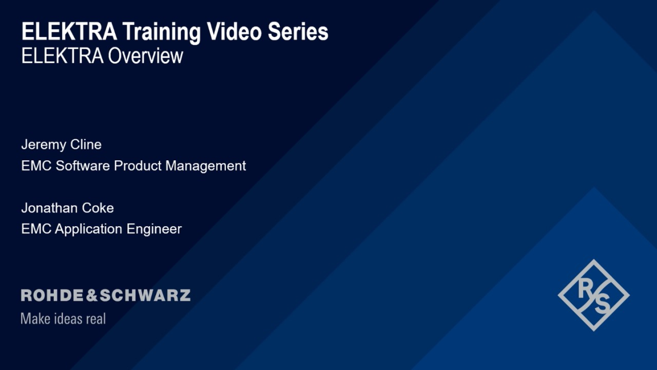 How to get started with R&S®ELEKTRA - training video series
