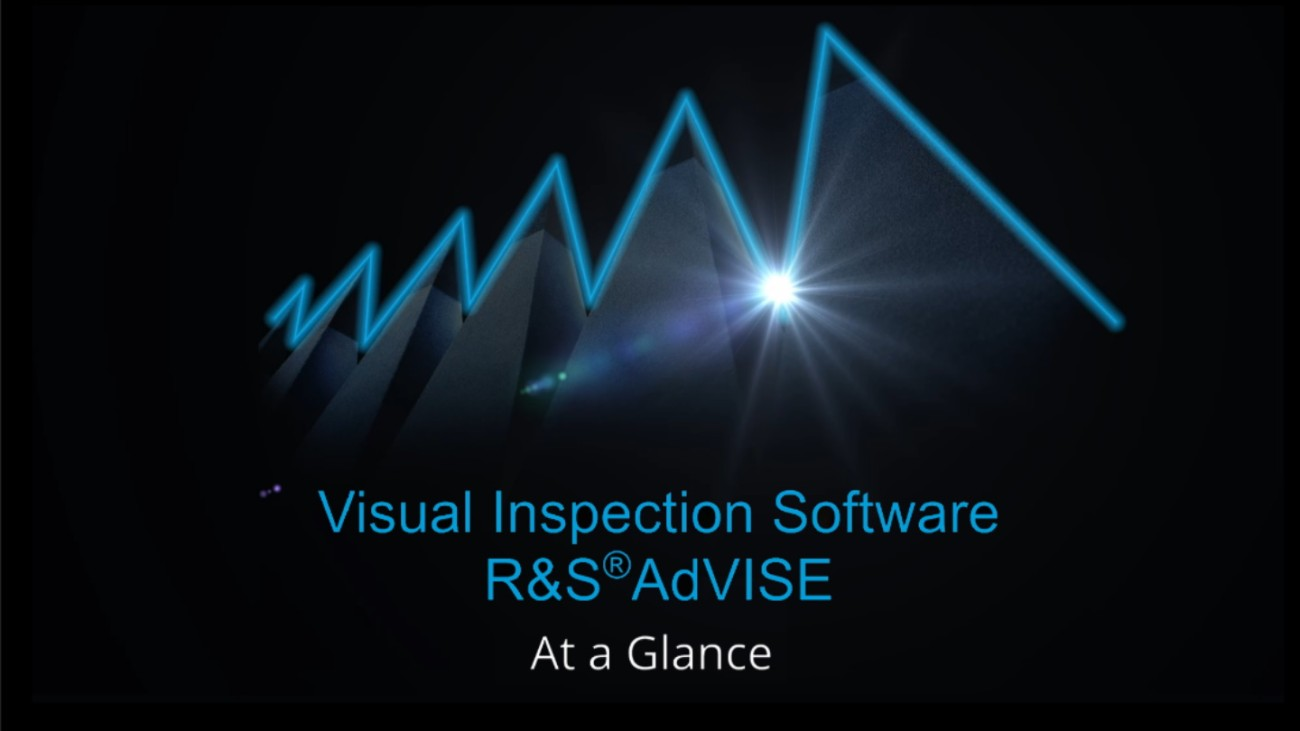 R&S®AdVISE Visual Inspection Software
