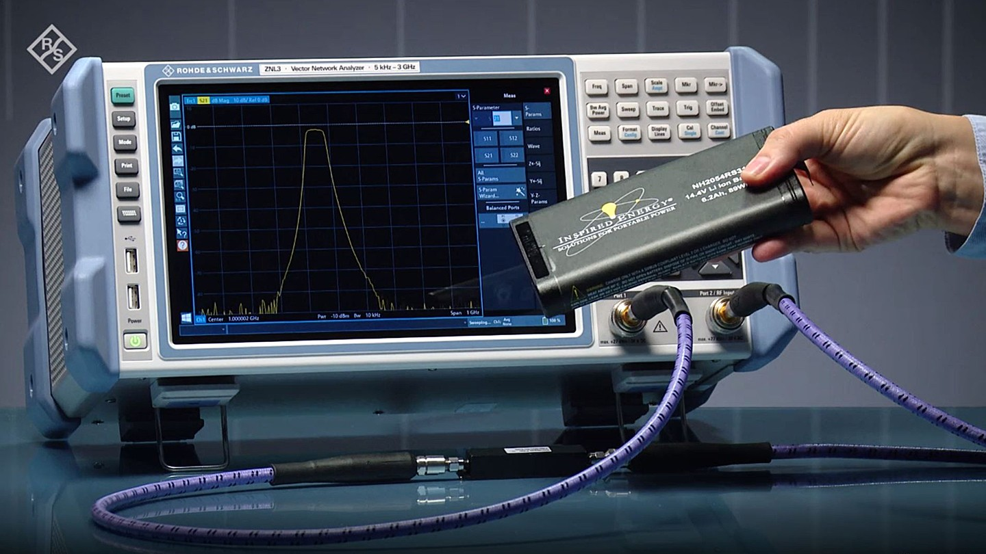 The R&S®ZNL vector network analyzer is fully portable