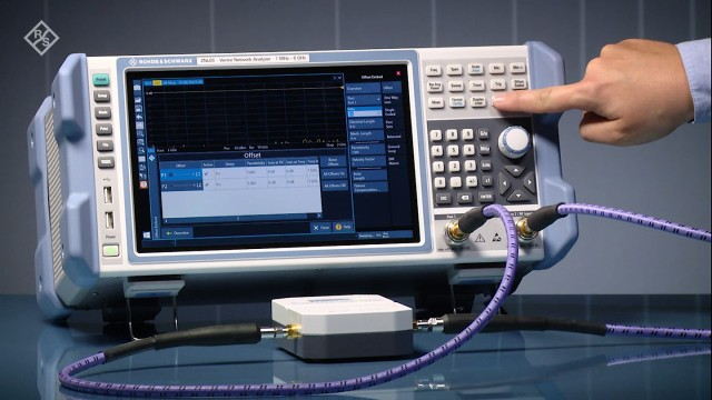 The R&S®ZNLE vector network analyzer features a fast one-step calibration