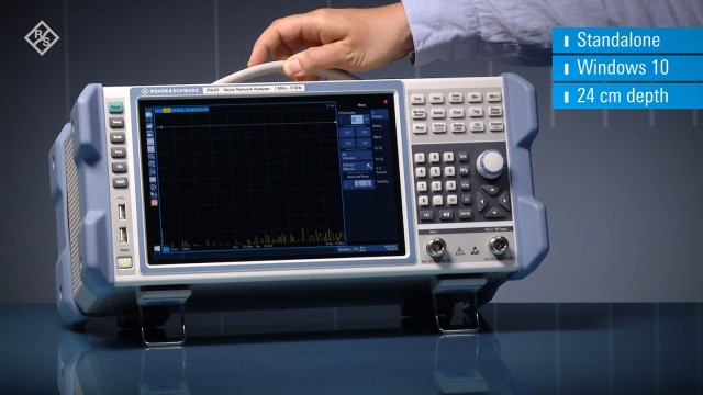 The R&S®ZNLE vector network analyzer is highly compact