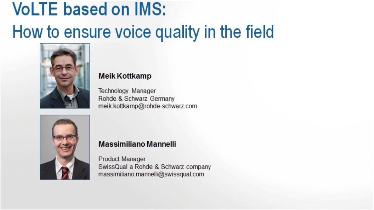 VoLTE based on IMS: How to ensure voice quality in the field