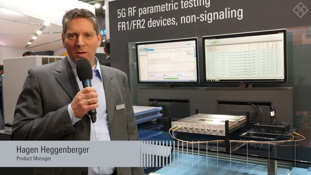 5G NR production testing for FR1 devices presented at GSMA MWC 2019