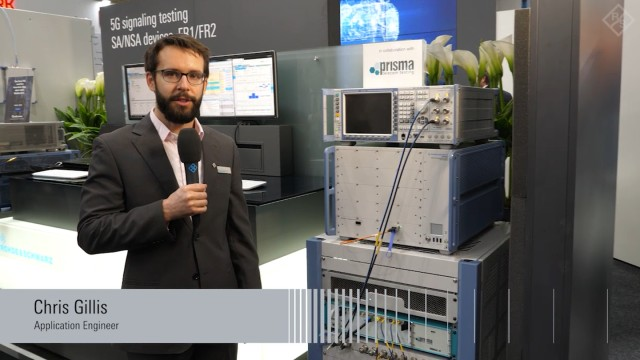 5G NR signaling test in FR1 and standalone mode presented at GSMA MWC 2019