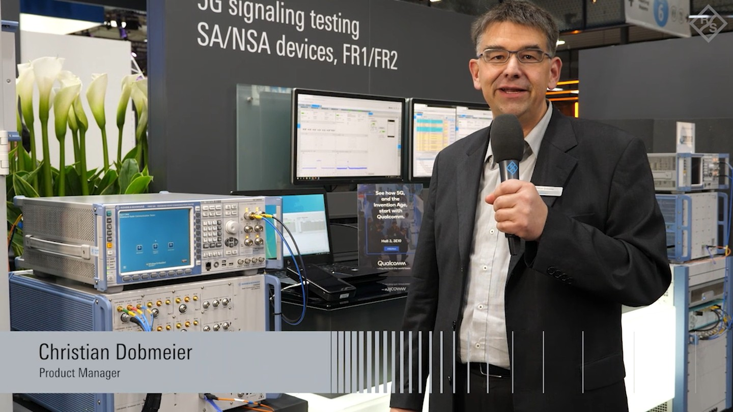 5G NR signaling test in FR1 and FR2 presented at GSMA MWC 2019
