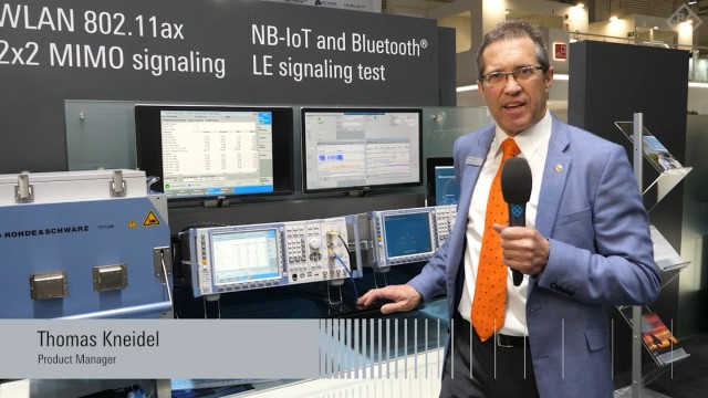 First one box solutions for WLAN 802.11ax MIMO signaling test presented at GSMA MWC 2019