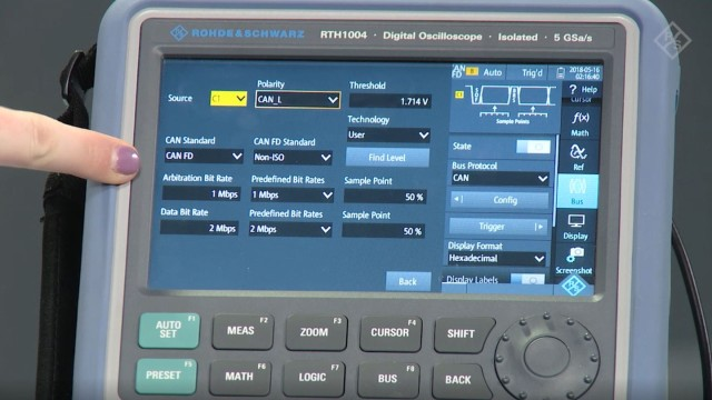 Decoding CAN Flexible Data CAN-FD bus with a handheld oscilloscope
