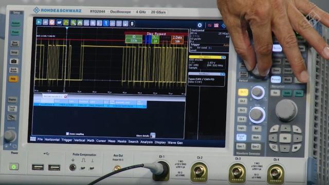 Debug CAN flexible data CAN-FD interfaces with an oscilloscope