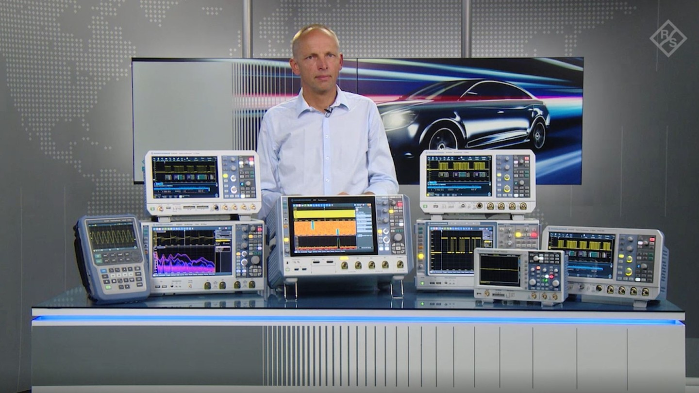 Rohde and Schwarz Oscilloscope range for automotive applications