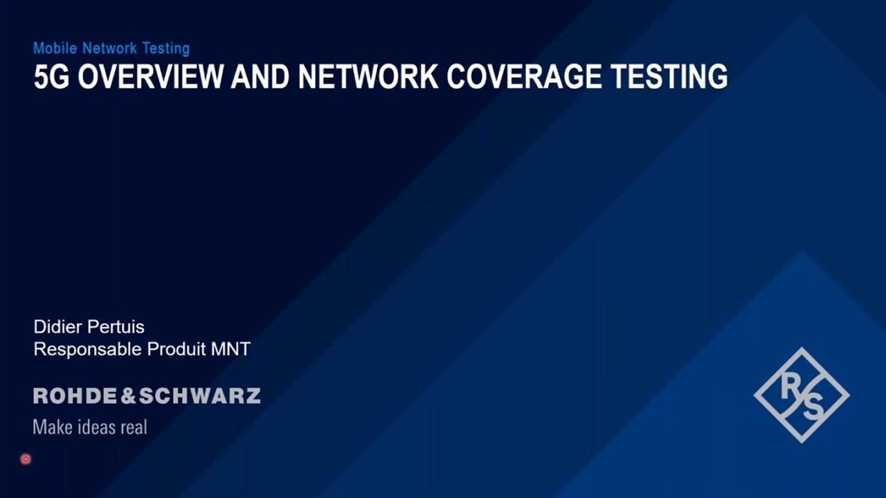 Webinar : La mesure de couverture 5G