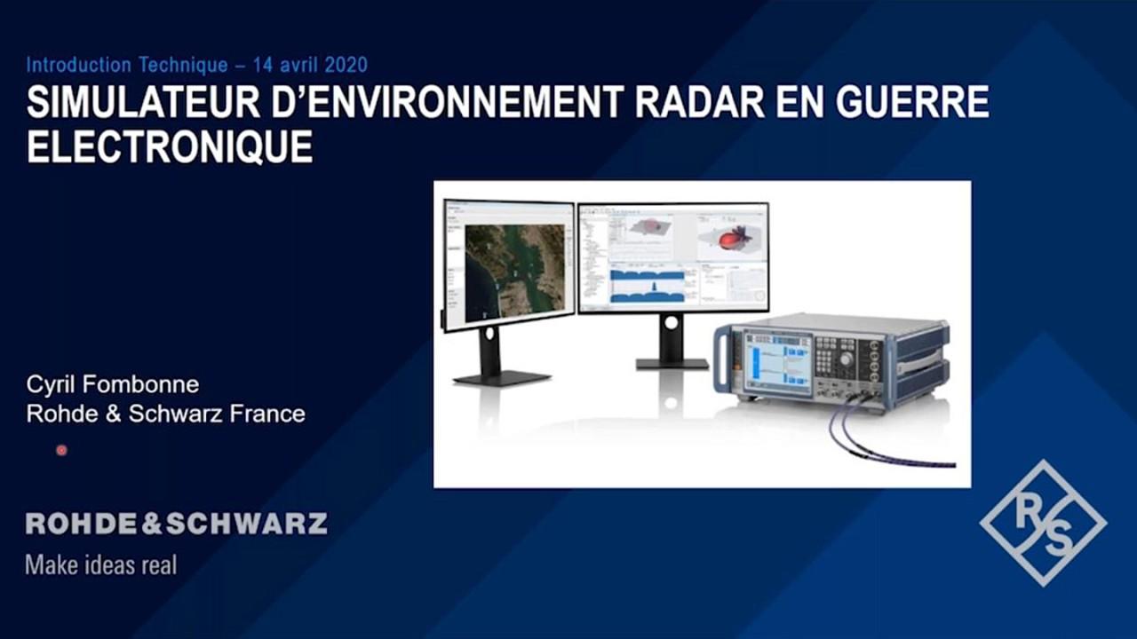 La simulation de menace radar en guerre électronique