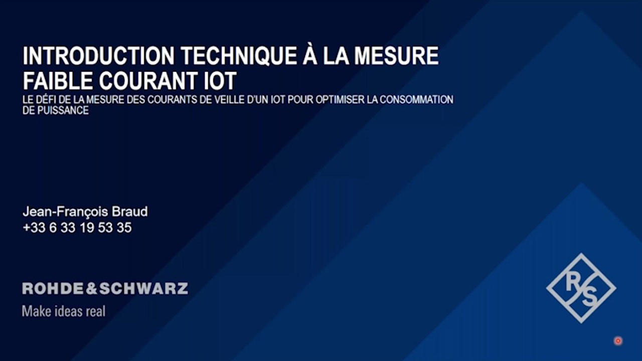 La mesure de faible courant IoT