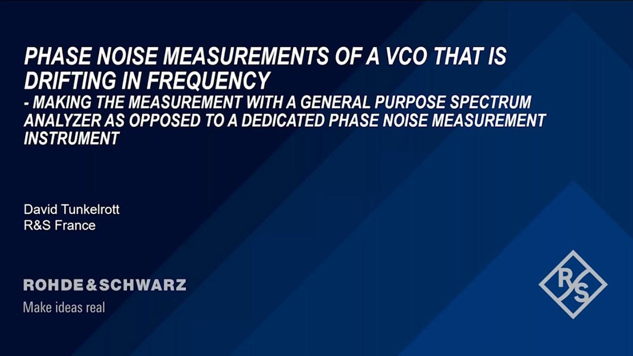 Webinar : Mesure de bruit de phase d'un VCO