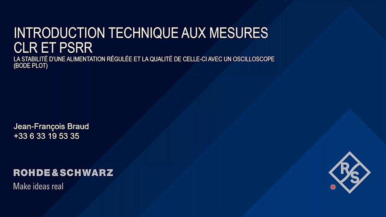 Webinar: introduction technique aux mesures PSRR
