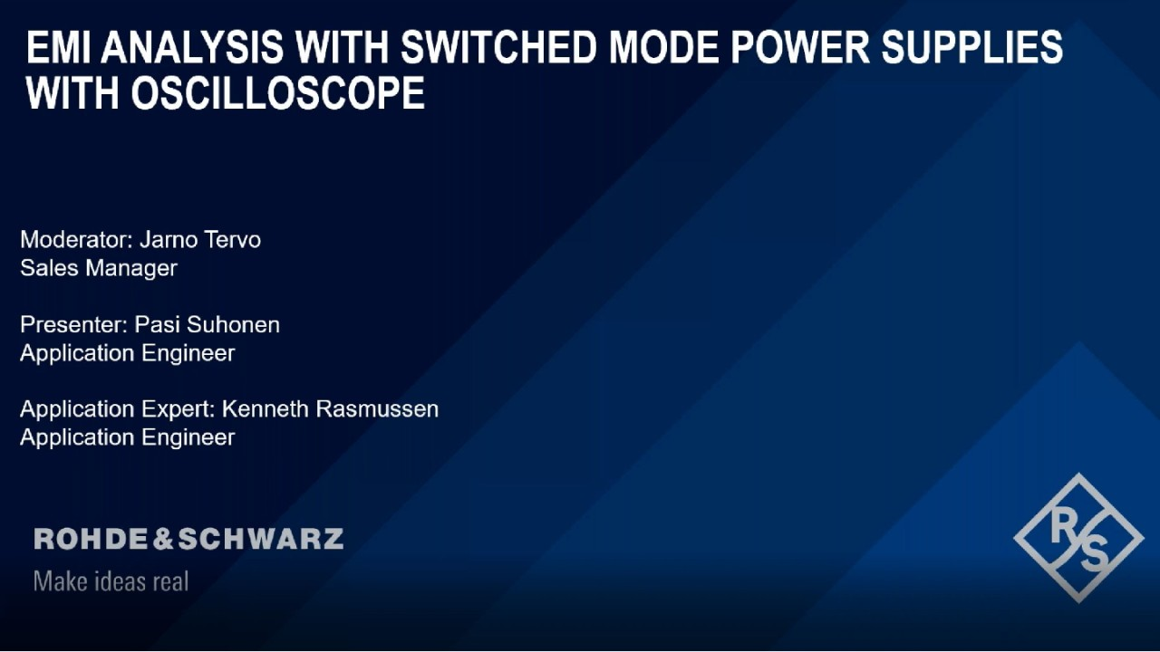 EMI Analysis on Switched Mode Power Supplies with Oscilloscopes