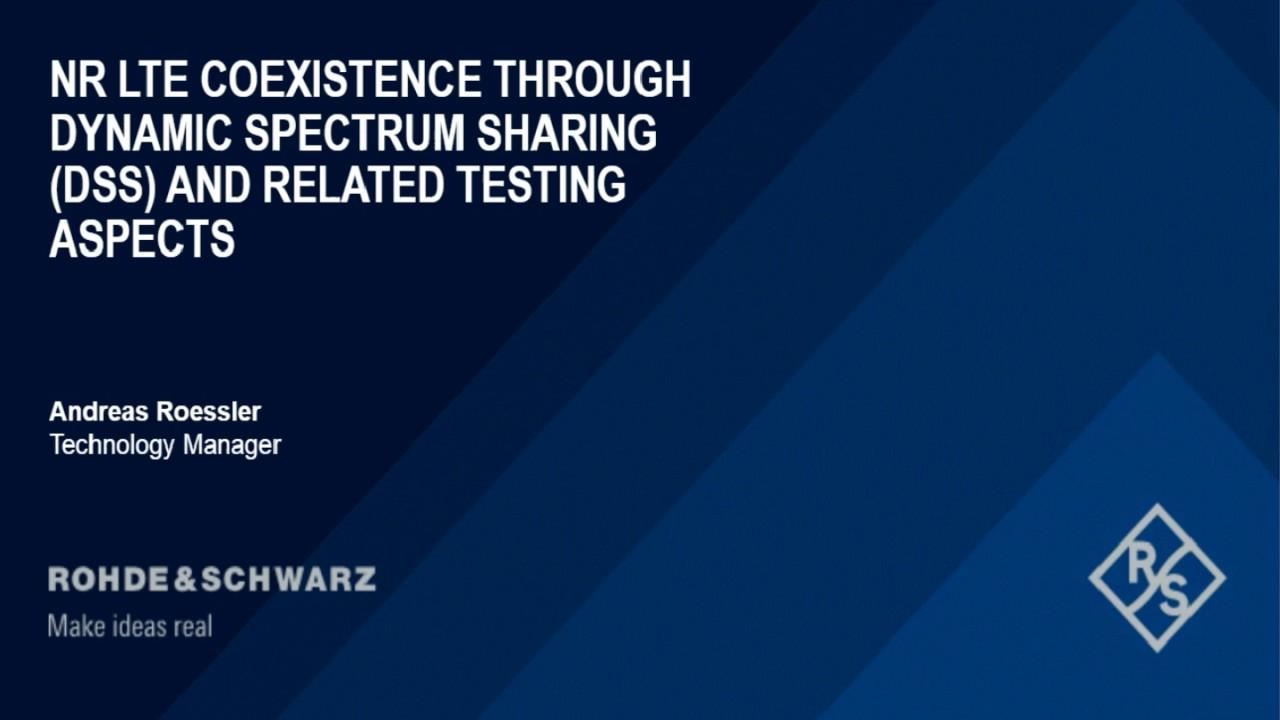 Webinar: Dynamic Spectrum Sharing for 5G