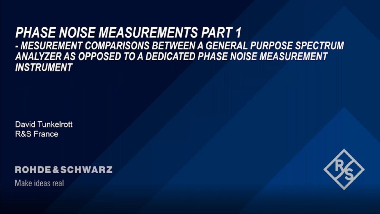 Webinar : Les fondamentaux de la mesure de bruit de phase - Partie 1