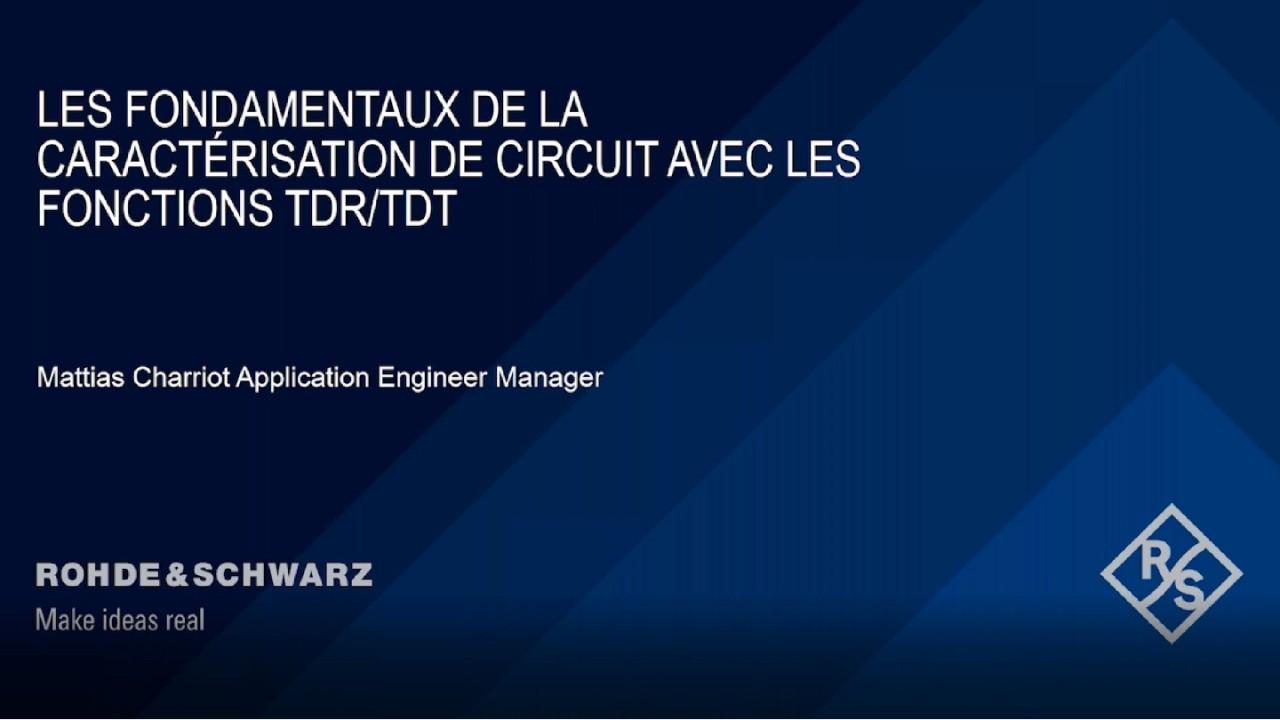 Webinar : Les fondamentaux de la mesure TDT/TDR