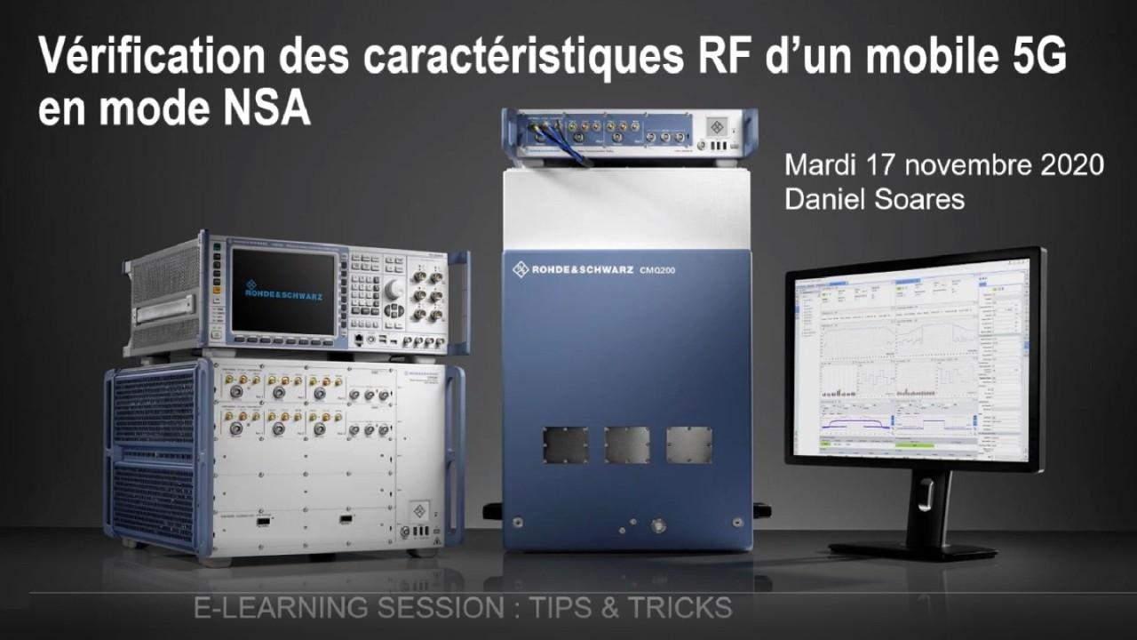 Vérification caractérisiques RF d'un mobile 5G en mode NSA