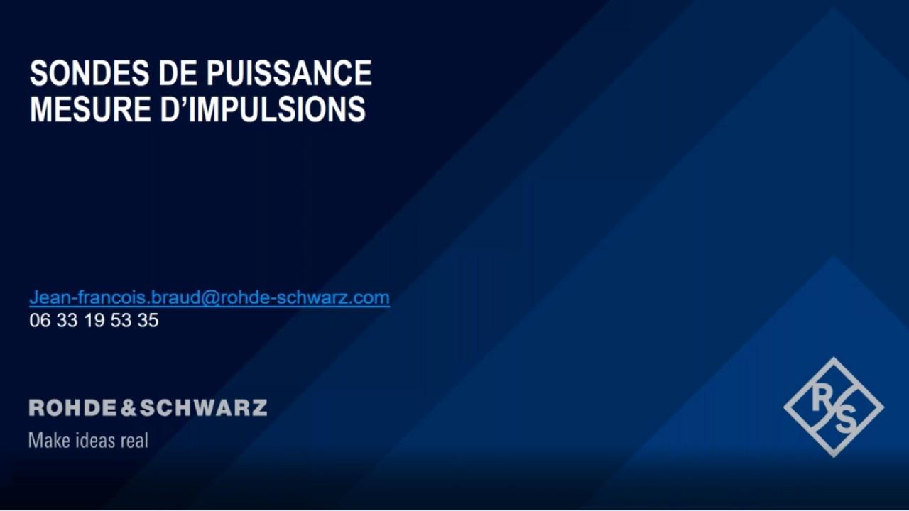 Webinar : Sondes - Mesures d'impulsions