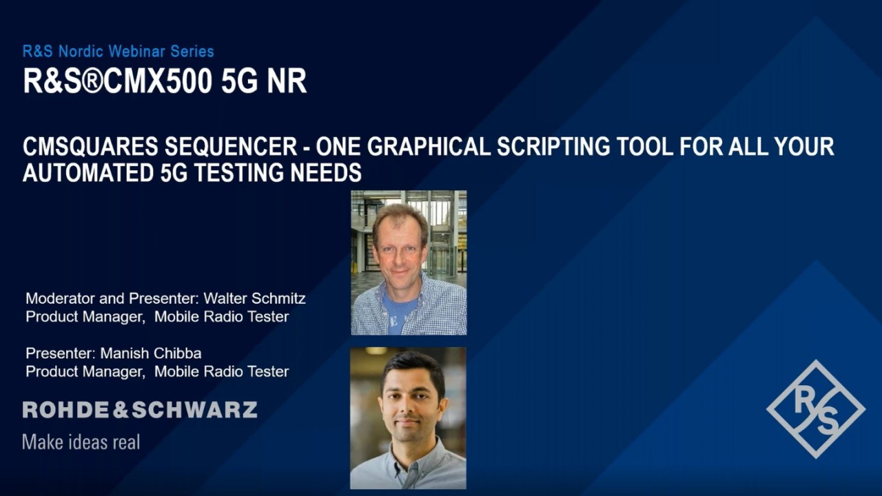 CMsquares Sequencer - ONE Graphical Scripting Tool for All Your Automated 5G Testing Needs