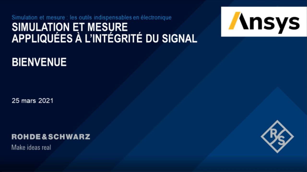 Webinar : Simulation et mesure dédiées à l'intégrité du signal