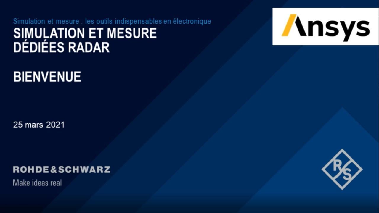 Webinar : Simulation et mesure pour applications radar
