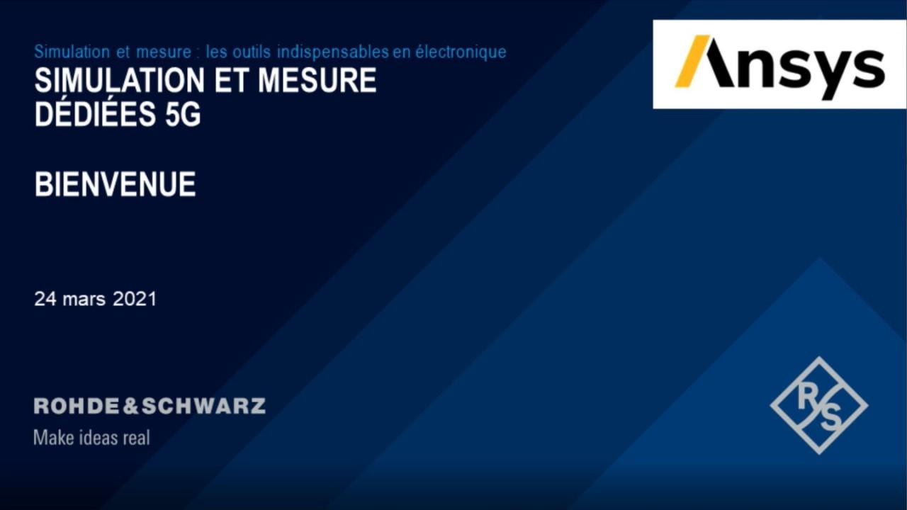Webinar : Simulation et mesure 5G